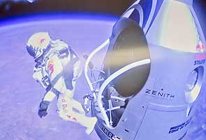 Felix Baumgartner's jump from space's edge provides collective moment