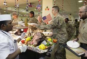 US troops in Afghanistan celebrate Thanksgiving