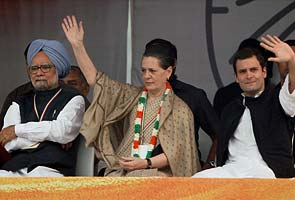 Sonia, Rahul hit out at opposition at Congress show of strength: Who said what
