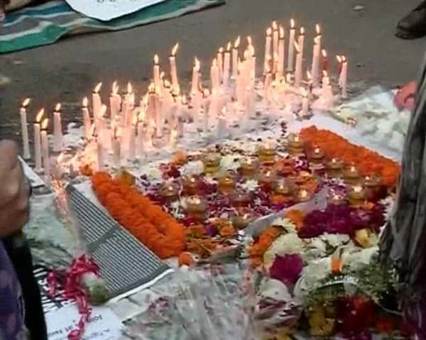 In memory of 'Amanat', a makeshift memorial, protests continue