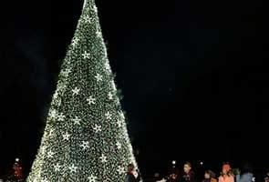 US President Barack Obama lights National Christmas Tree