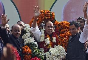 Rajnath Singh elected unopposed as BJP President