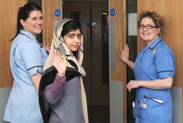 Pakistani girl, Malala Yousufzai, shot by Taliban discharged from British hospital