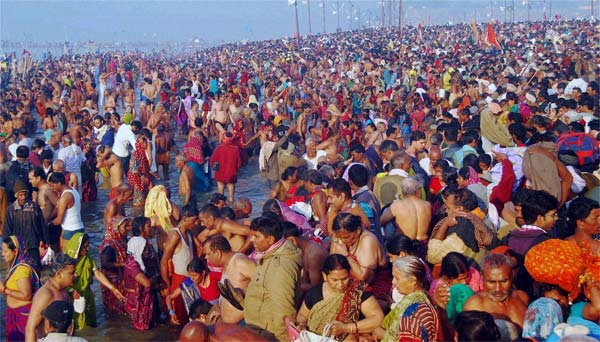 Over three crore people take holy dip in Kumbh Mela on 'Mauni Amavasya'