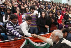 Blog: At Delhi college, standing ovation and victory lap for Modi