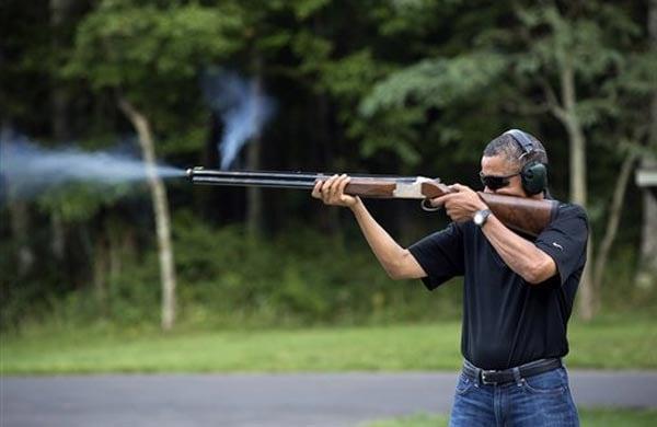 Barack Obama a skeet shooter? White House releases photo