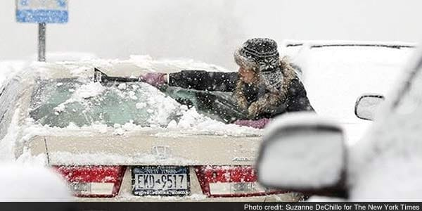US northeast is pelted by heavy snow and high winds