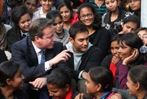 Look who's on campus: David Cameron and Aamir Khan