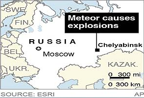 Meteor explodes over Russia; about 1,100 injured