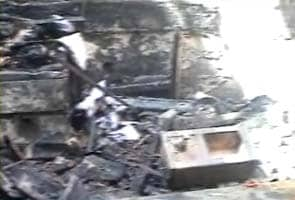 Mob sets railway station on fire after train runs over two children in Madhya Pradesh