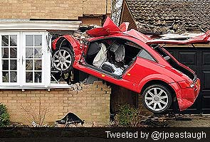 Man Seriously Hurt As Crash Leaves Audi Embedded In UK Home - Audi home
