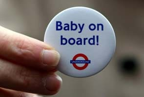 Kate gets 'baby on board' badge from London Underground