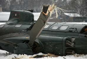 Two helicopters collide at Berlin stadium, one dead