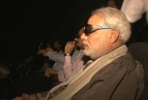 Which movie did Narendra Modi watch in a cinema on Monday?