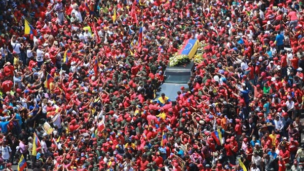 Hugo Chavez funeral: sea of Venezuelans view his remains
