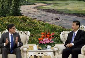 China's leader Xi Jinping meets US treasury secretary Jack Lew