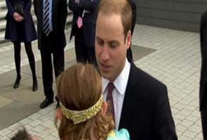 Kiss from Prince William? No thanks, says little girl