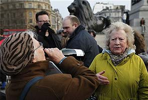 Anti-Thatcher protest in London's Trafalgar Square