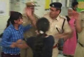 Woman protester at Delhi hospital slapped by senior policeman
