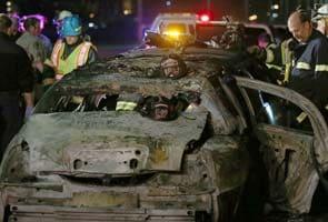 Five die in limousine fire on California bridge