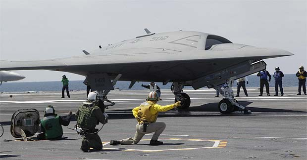 US Navy launches stealth drone X-47B, makes aviation history