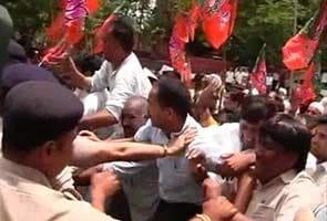 Railway bribery case: BJP protests against top CBI officer in Chandigarh