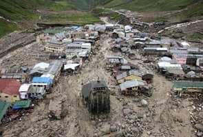 Kedarnath temple compound damaged due to flood; report says 50 pilgrims dead