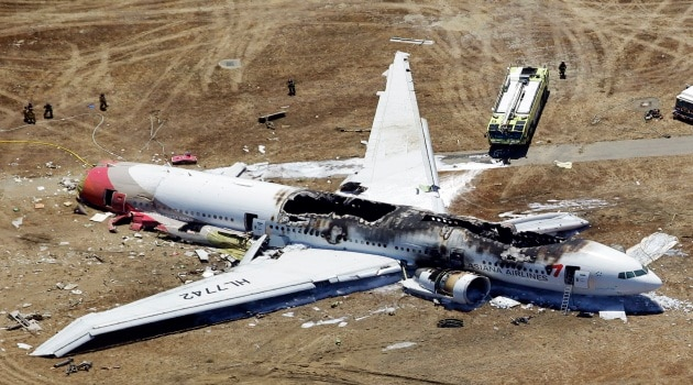 Asiana Airlines flight crash-lands at San Francisco airport; 2 dead, many injured