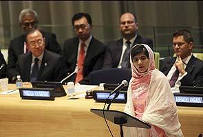 Not afraid of Taliban threats, Malala Yousafzai tells United Nations