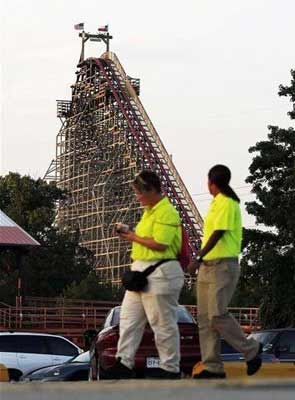 Woman dies in fall from one of the world's tallest rollercoasters
