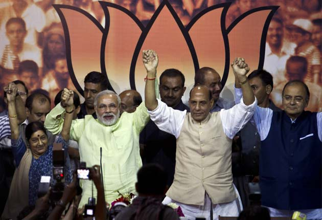 Chosen. Narendra Modi is BJP's candidate for PM