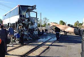 Six killed after passenger train, bus collide in Canada's capital