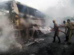 45 killed as speeding bus headed to Hyderabad catches fire