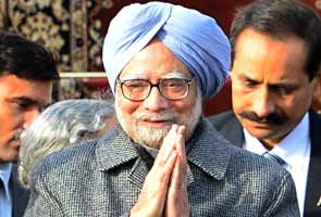 Prime Minister Manmohan Singh arrives in Russia