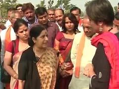 """Is Rahul Gandhi angry young man or social activist?"" Sushma Swaraj to NDTV"