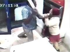 Caught on CCTV: Woman attacked with machete at Bangalore ATM