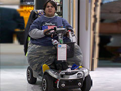 'Too fat to fly' Frenchman lands in Britain