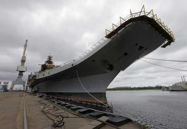 Russia delivers super aircraft carrier INS Vikramaditya to India