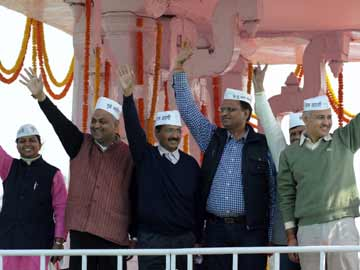Arvind Kejriwal's swearing-in: Congress absent, BJP's Harsh Vardhan attends