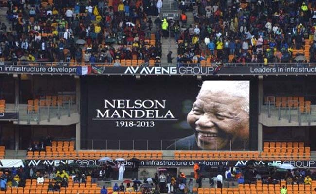 Nelson Mandela farewell: President Pranab Mukherjee one of the six heads of state speaking at the service