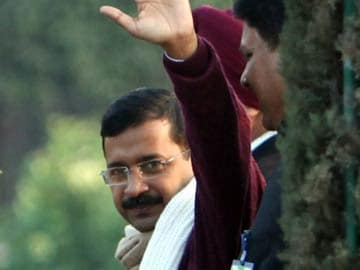 Delhi chief minister Arvind Kejriwal is star attraction at President's At Home