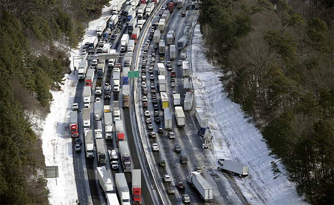 Deadly US ice storm turns Atlanta into parking lot, strands thousands