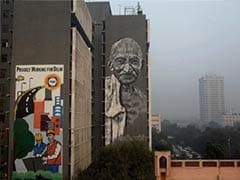 Delhi: Huge mural of Mahatma Gandhi unveiled on Police Headquarters wall