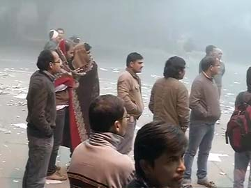 Outside Rahul Gandhi's home, a crowd of IAS aspirants who won't leave without his word