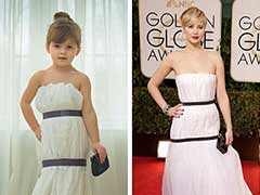 She makes celebrity dresses out of paper and she's only four
