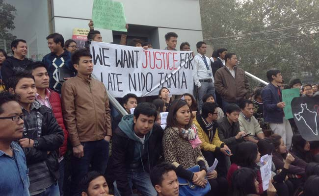 Arunachal Pradesh student Nido Taniam's death: protests at Delhi market where he was allegedly thrashed