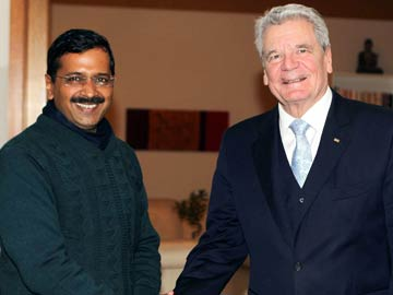 Delhi Chief Minister Arvind Kejriwal meets German President