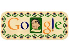 Google India marks Sarojini Naidu's birthday with a doodle