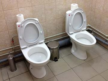 Olympic Loo-Loo: Another twin toilet seen in Sochi