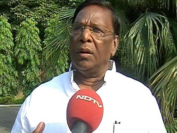 Protests in Puducherry over detection of suspected explosive device under Union Minister V Narayanasamy's car
